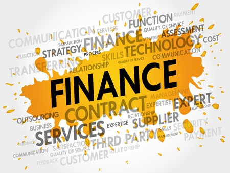 lending: FINANCE related items words cloud, business concept