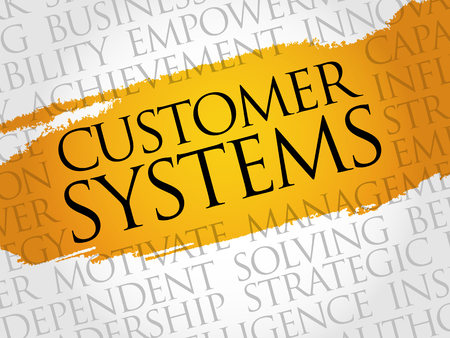 employee satisfaction: Customer Systems word cloud, business concept