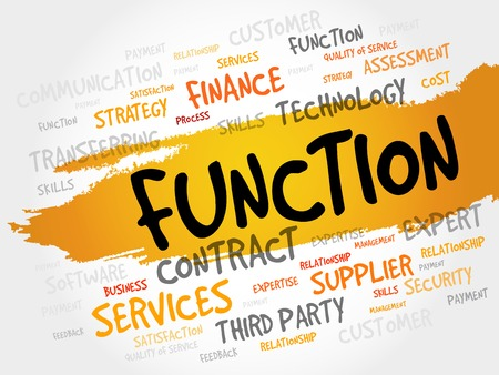 fulfill: Function word cloud, business concept
