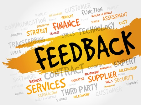 feed back: Feedback word cloud, business concept