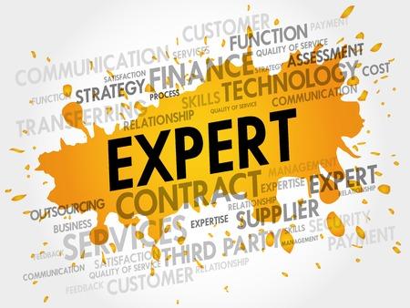 extensive: EXPERT word cloud, business concept