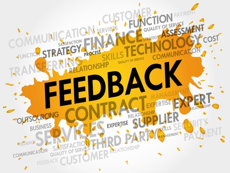 feed back: Feedback related items words cloud, business concept Illustration