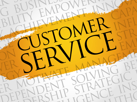 customer support: Customer Service word cloud, business concept