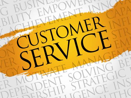 Servicio al Cliente Nube de la palabra, concepto de negocio