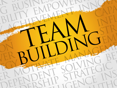 interdependent: Team Building word cloud, business concept
