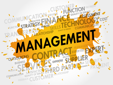 estimating: Management related items words cloud, business concept Illustration