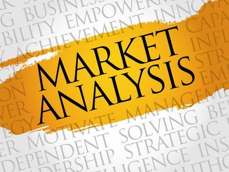 optimal: Market Analysis word cloud, business concept