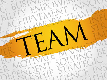teaming: Team word cloud, business concept