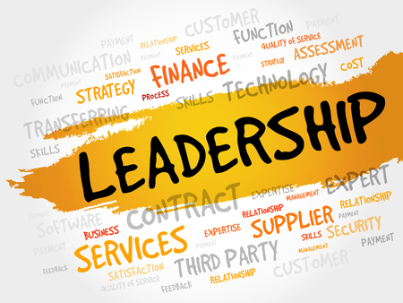 charismatic: LEADERSHIP word cloud, business concept