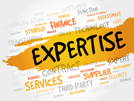 expertise concept: Expertise word cloud, business concept