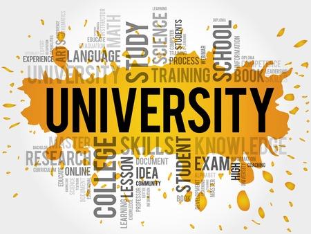 UNIVERSIDAD nube de palabras, el concepto de la educación