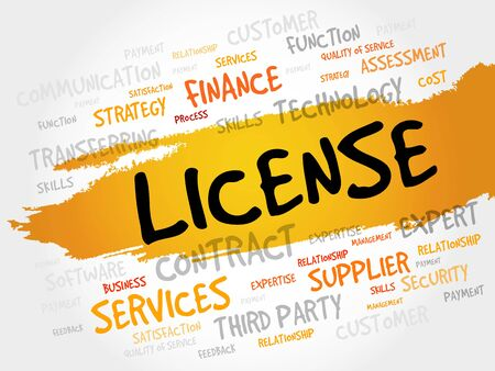 linking: LICENSE word cloud, business concept