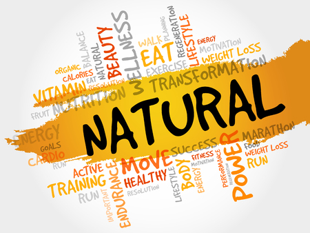 increase fruit: NATURAL word cloud, fitness, sport, health concept