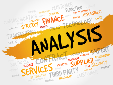 stratgy: ANALYSIS word cloud, business concept