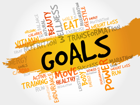 GOALS word cloud, fitness, sport, health concept Vectores