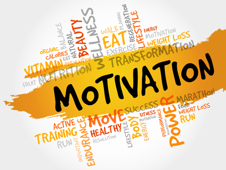 creative potential: MOTIVATION word cloud, fitness, sport, health concept