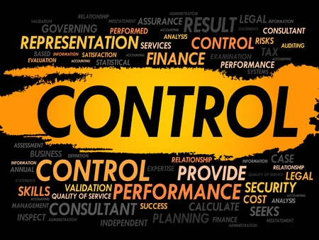 tax policy: CONTROL word cloud, business concept