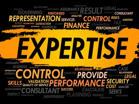 expertise concept: EXPERTISE word cloud, business concept Illustration