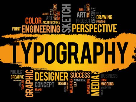 returning: TYPOGRAPHY word cloud, business concept