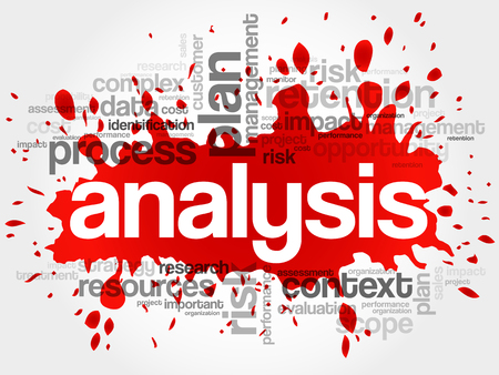 stratgy: Analysis word cloud, business concept Illustration