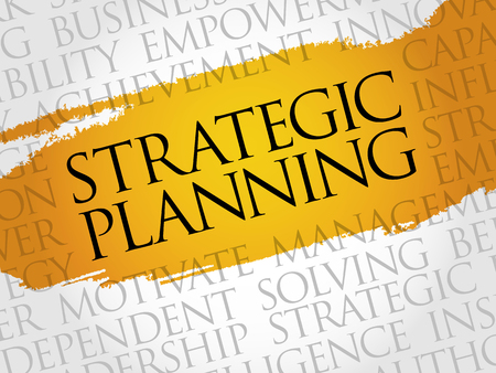 strategic planning: Strategic planning word cloud, business concept