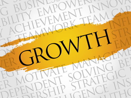 innovator: Growth word cloud, business concept Illustration