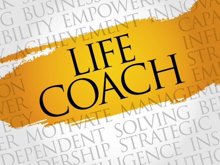 life change: Life Coach word cloud, business concept