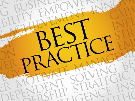 ingenious: Best Practice word cloud, business concept Illustration
