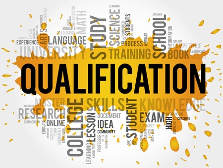 Qualifikation Wortwolke, Bildung Business-Konzept
