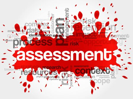 auditing: Assessment word cloud, business concept Illustration