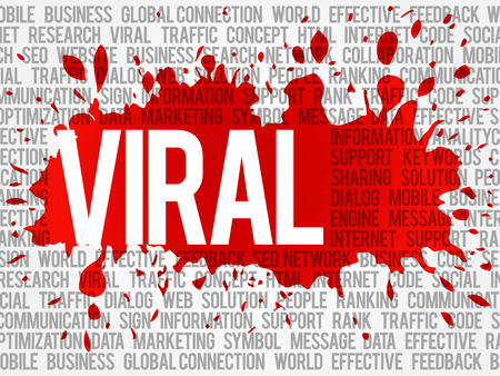 viral: Viral word cloud, business concept