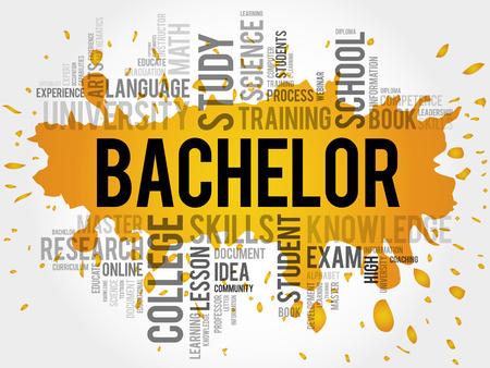 extramural: Bachelor word cloud, education concept