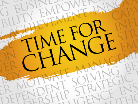 future business: Time for change word cloud, business concept