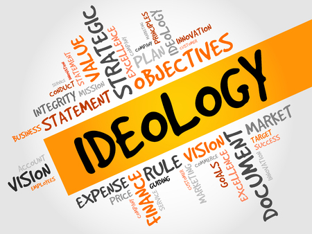 ideology: Ideology word cloud, business concept Illustration