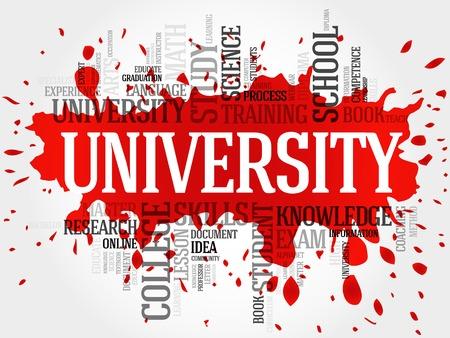 university word: UNIVERSITY word cloud, education concept