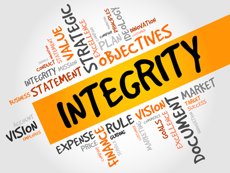 perceived: Integrity word cloud, business concept