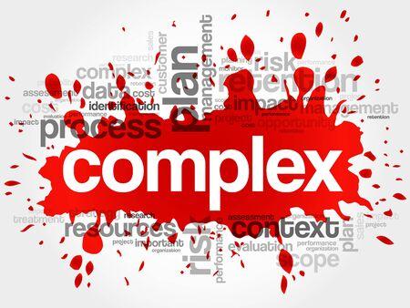 complex: Complex word cloud, business concept Illustration