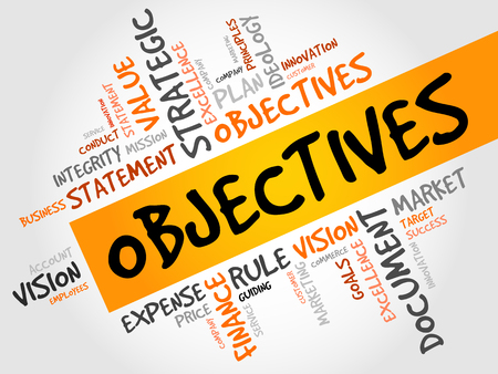 prospects: Objectives word cloud, business concept Illustration