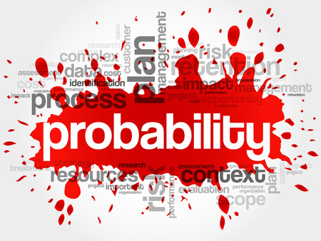 probability: Probability word cloud, business concept