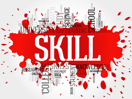 skill: SKILL word cloud, education concept Illustration