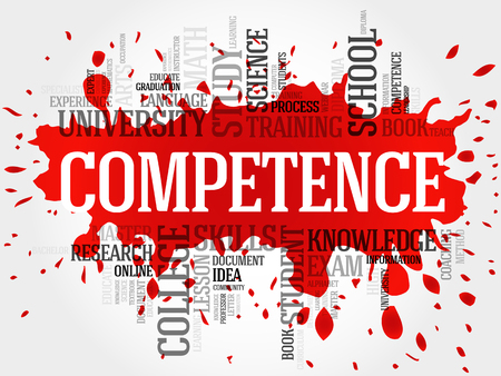 competence: COMPETENCE word cloud, business concept