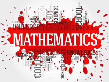 mathematician: Mathematics word cloud, education concept