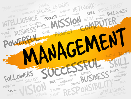 finished good: MANAGEMENT word cloud, business concept
