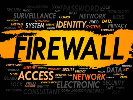 adware: FIREWALL word cloud, security concept