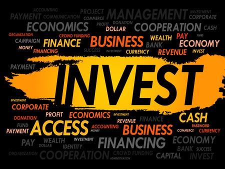bonds: INVEST word cloud, business concept