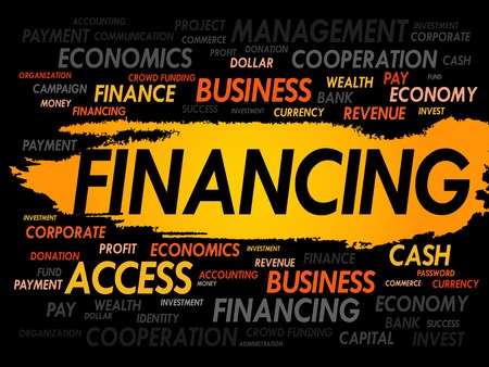 financing: FINANCING word cloud, business concept