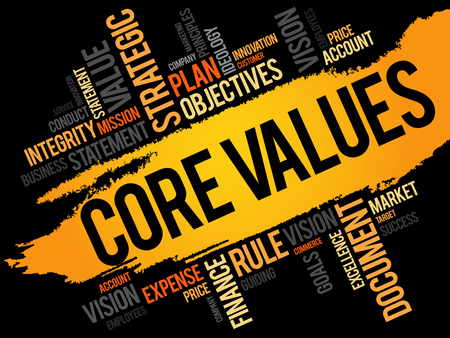 conduct: Core Values word cloud, business concept