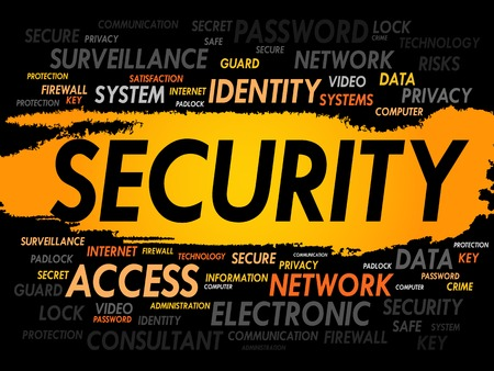 the guard: SECURITY word cloud, business concept