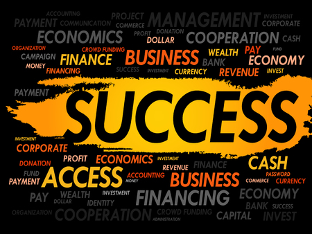 success concept: SUCCESS word cloud, business concept
