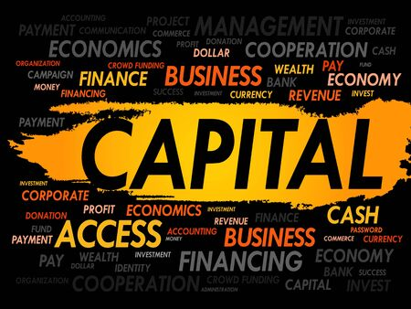 ownership equity: CAPITAL word cloud, business concept